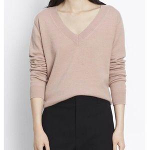 Vince V-neck 100% cashmere sweater - M, blush pink